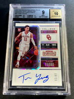 TRAE YOUNG 2018 CONTENDERS #56 CRACKED ICE VARIATION AUTO ROOKIE RC /23 BGS 9