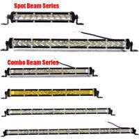 Ultra Slim LED Work Light Bar Single Row Spot/Flood/Combo Off-Road ATV Car Truck