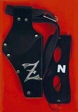 Zorro Set Augenmaske + Holster Set Rächer Zorromaske Z schwarz Domino 125972413