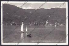BRESCIA SULZANO 08 LAGO d'ISEO - BARCHE - VELE Cartolina VIAGG. 1955 REAL PHOTO