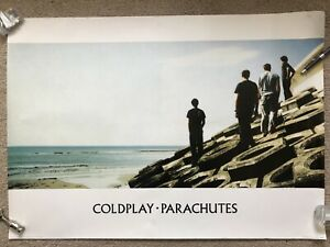 Vintage Official Coldplay Parachutes 86 X 61cm Poster Rare 2000 Pyramid Large