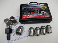 Set of 4 Evo Locking Wheel Nuts with Chrome Covers (21mm Hex) (AGA171-LWNS)b