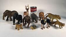 Huge LOT Safari Schleich Papo Terra Animals Set Of 12 Elephant Gorilla Ostrich
