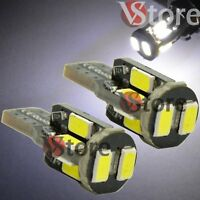 2 Pack Lampade T10 Led 10SMD 5630 Can-Bus BIANCO Posizione Luce Targa Luminosi