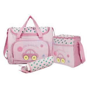 4PCS Pink Large Baby Diaper Nappy Changing mat Mommy Tote Handbag Bag US Seller