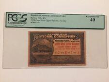 1928 Republican National Convention PRESIDENT HERBERT HOOVER Ticket Pass PCGS 40