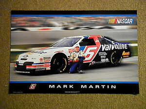 NASCAR LARGE POSTER 23 IN X 35 IN - MARK MARTIN 1994 Man Cave Decoration
