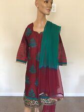 Pakistani Indian Shalwar Kameez Punjabi Suit Medium Women Anarkali M Cotton SILK