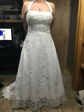 davids bridal wedding dress (size 16)