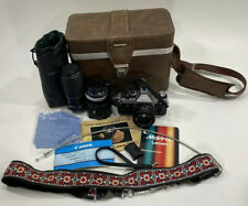 Canon AE-1 35mm Camera SLR Manual With Extras 50mm Lens Tokina Lens Case Rare!