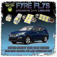 White LED interior lights package kit for 2013-15 Santa Fe 9 pcs 5050 series SMD