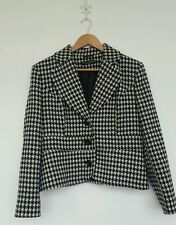 Checked Formal Plus Size Button Coats & Jackets for Women