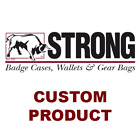 Strong Leather Company - Double Thick Recessed Badge Holder For Neck: 80727-2452