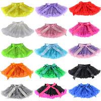 Baby Girls Kids Chiffon Fluffy Pettiskirt Tutu Dance Party Christmas Skirt 1-10Y
