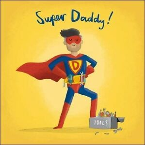 Funny Super Daddy Fathers Day Card - Woodmansterne Illustrated Artwork