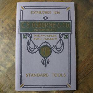 Vintage 1900s CS Osborne & Co Standard Tools Catalog Reprint 1970s