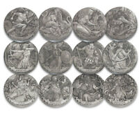 2016-2017 Cook Antiqued 2 oz Silver HR Gods & Goddesses Olympus 12 Coin SKU51701