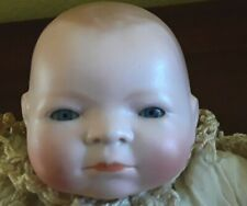 Antique By~Lo Baby Doll By Grace Putnam In Original Shabby Gown/ Blue Glass Eyes