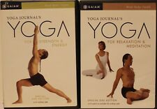 2 Yoga workout Dvd lot Rodney Yee for strength energy meditation relaxation
