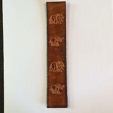 Handmade Leather Bookmark With Elephants