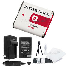 NP-BG1 Battery + Charger + BONUS for Sony DSC-HX5 HX5V HX7V HX9V HX10 HX20 HX30