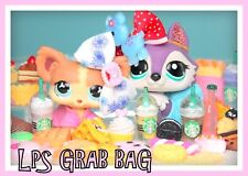 🍰 Littlest Pet Shop LPS 6 PC Lot Food Accessory STARBUCKS Cake Grab Gift Bag 🍩
