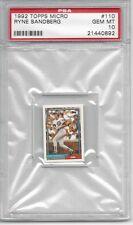 1992 Topps Micro #110 Ryne SANDBERG - PSA 10+++ HOF Cubs