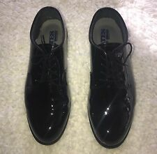 Black Bates Footwear High Gloss Durashocks Womens Size 9 1/2 W Oxford