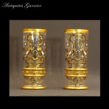 PAIRE DE VASES CYLINDRES XIXème - PAIR OF VASES CYLINDERS XIXth