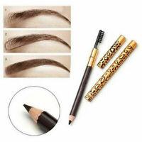 Waterproof Eye Brow Black Brown Eyebrow Pen Makeup Pencil With Brush Cosmetic