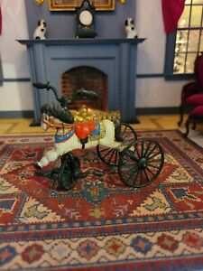 DOLLHOUSE MINIATURE PAINTED METAL TOY HORSE CYCLE
