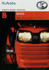 Prospekt Kubota Diesel Traktor 2009 B 2420 Broschüre Landmaschine Trecker