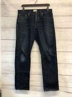 Sid Mashburn Jeans Men's size 34x30 straight leg blue fly button V-835