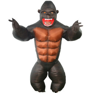The Turtle Market, Inflatable Kid Gorilla Costume; Unisex; Waterproof