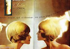 PUBLICITE ADVERTISING 115  1964  laque Elnett Satin de L' Oréal (2p)
