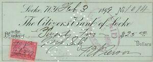 1899 CITIZENS BANK OF LOCKE, NEW YORK     REVENUE