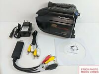 Panasonic VHS-C Camcorder for HG VHSC Tape Transfer to DVD USB Adapter Converter