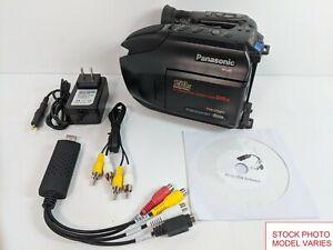Panasonic VHS-C Camcorder for Tape Transfer to DVD USB VHSC Adapter Converter