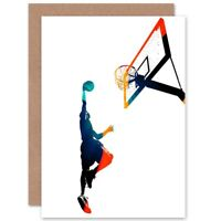 Basketball Slam Dunk Blank Greeting Card With Envelope