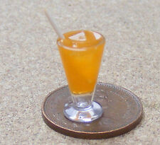1:12 Scale Tequila Orange Cocktail In A Glass Dolls House Miniature Drink CT2