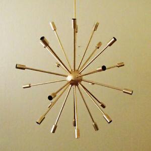 Large 24 Arm Atomic SPUTNIK Ceiling Starburst Light 50s 60s Mid Century