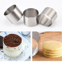 GT- KQ_ 2inch Round Mousse Mold Cake Stainless Steel Ring Cookie Seamless Baking