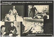Publicité Advertising 1973 (2 pages) Les salles de Cinéma UGC ..Annie Girardot