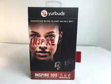 Yurbuds Inspire 300 Sweat Proof TwistLock Earphones Earbuds Mic & Remote Black