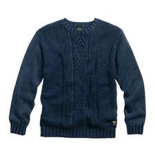 """HARLEY-Davidson """"CABLE"""" Uomo Pullover Taglia M blu * 96183-16vm/000 M *"""