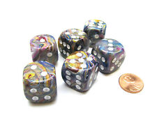 Festive 20mm Big D6 Chessex Dice, 6 Pieces - Carousel with White Pips