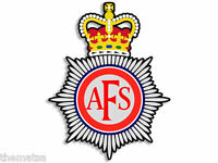 "4"" AFS FIRE CREST UK HELMET BUMPER DECAL STICKER USA MADE"