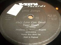 """MINT JULEPS """" ONLY LOVE CAN BREAK YOUR HEART """" 7"""" SINGLE STIFF RECORDS 1985 EX"""