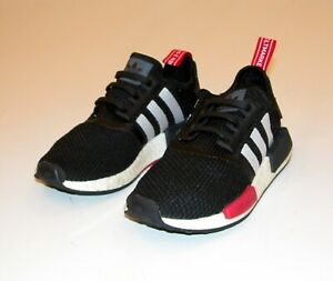 ADIDAS Originals Men's NMD_R1 Boost Shoes Sneakers Black White Red Sz. 4 /UK 3.5