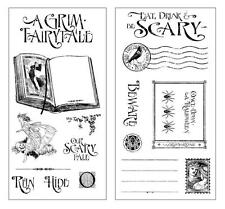 "Graphic 45 Halloween ""A Grim Fairytale"" 18p Cling Stamp Hampton Art Mixed Media"